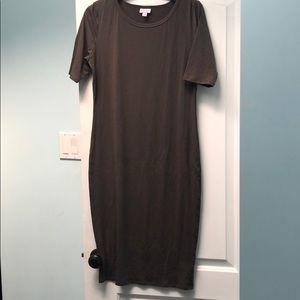 LuLaRoe Dresses - Lularoe Julia sz M EUC brown